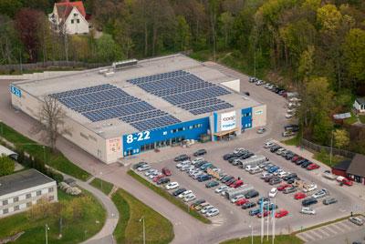 Solar Panel Coop Grocerystore