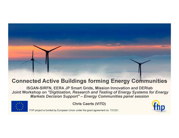 Digitization, Research and Testing of Energy Systems for Energy Markets Decision Support 2019, Connected Active Buildings forming Energy Communities