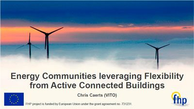 Energy Communities leveraging Flexibility from Connected Active Buildings